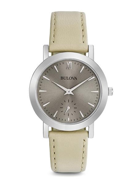 Bulova Ladies Classic Grey Dial with second hand sub dial 96l233