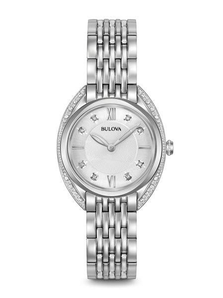 Bulova Ladies  stainless Diamond curve style watch 96r212