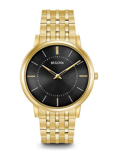Bulova Classic Stainless steel With Gold Tone Black Dial