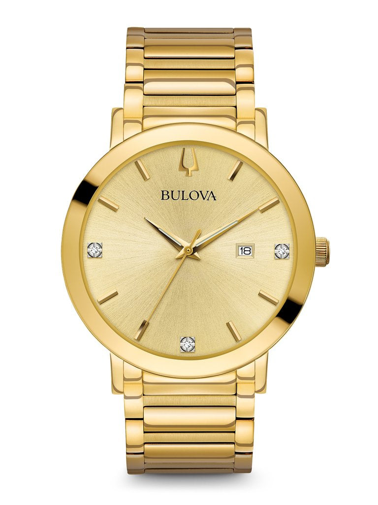 Bulova Classic Metalized signature with diamond accents 97D115