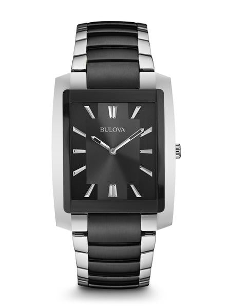 Bulova Classic two tone black and silver 98a117