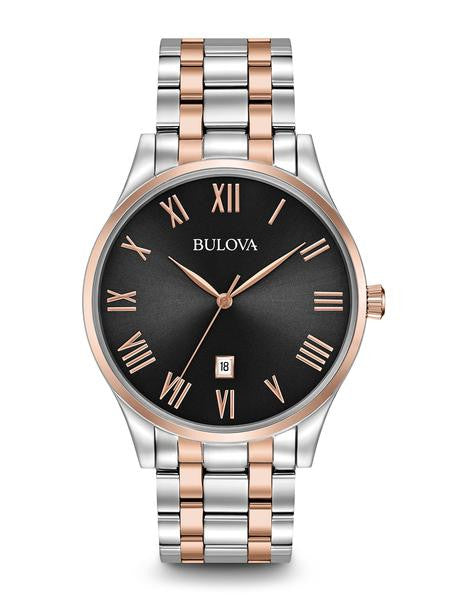 Bulova Classic Stainless steel with Rose tone & Roman Numerals 98b279