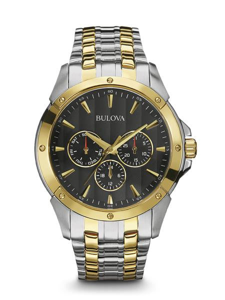 Bulova Mens sports watch 98c120 chrono two tone
