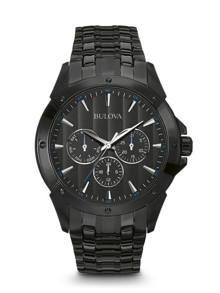 Bulova Mans Black Ion plated chrono 98c121