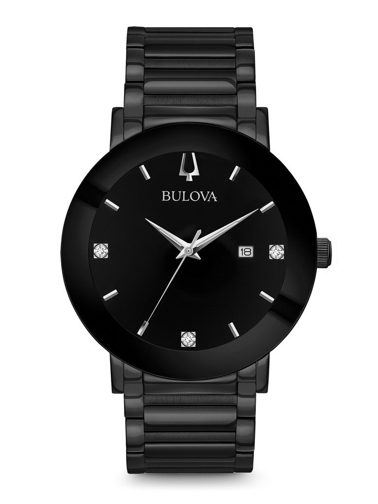 Bulova Classic Metalized signature with diamond accents 97D144