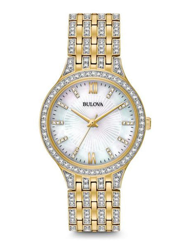 Bulova Crystal Swarovski watch Gold tone