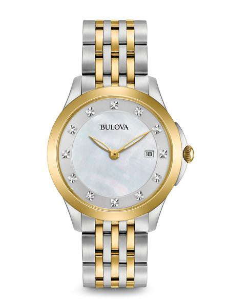 Bulova Ladies Two tone Diamond dial 98p161