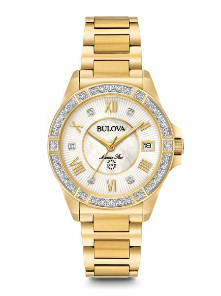 Bulova Marine Star Diamond watch Gold Tone 98r235