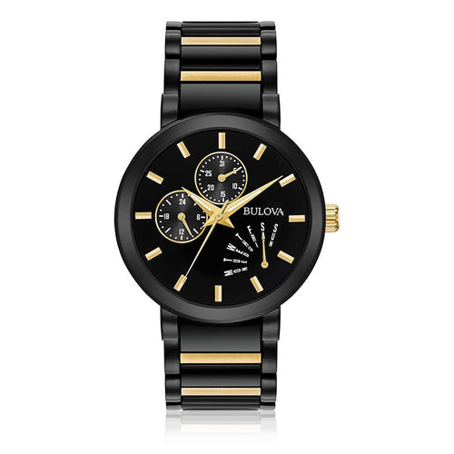 Bulova Classic Metalized signature watch with Gold tone accents