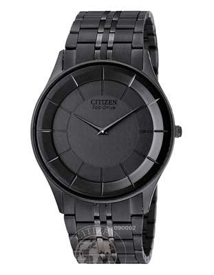 Citizen Mens Stiletto Eco-Drive Black ion plating AR3015-53E Thin