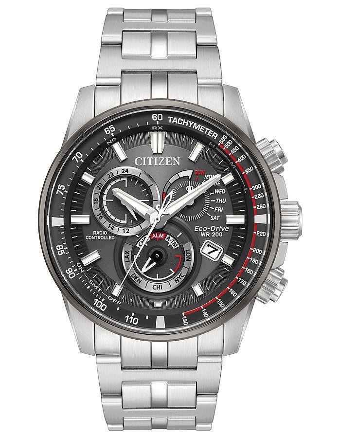 Citizen Eco-Drive watch PCAT Perpetual chrono AT black dial
