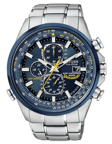 Citizen Blue Angels Eco Drive world chrono AT stainless steel AT8020-54L