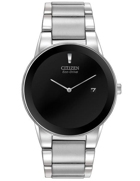 Citizen AU1060-51A Eco-drive Axiom  Black dial ss case