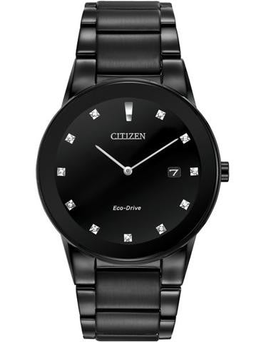 Citizen  AU1065-58G Eco-drive Axiom Black dial with black ion stainless steel diamond dial