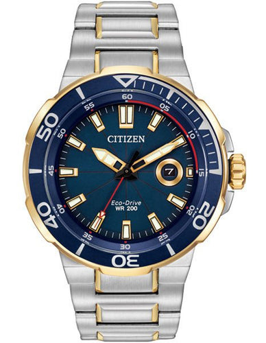 Citizen Endeavor AW1424-54L Blue Dial stainless two tone starp