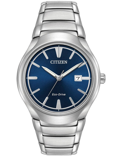 Citizen Eco-Drive Men's Paradigm Blue Dial Stainless Steel Watch - Silver