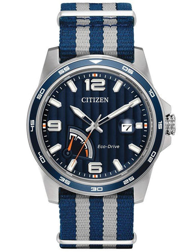 Citizen Eco-Drive Mens Sport Watch - Blue Tone Dial AW7038-04L
