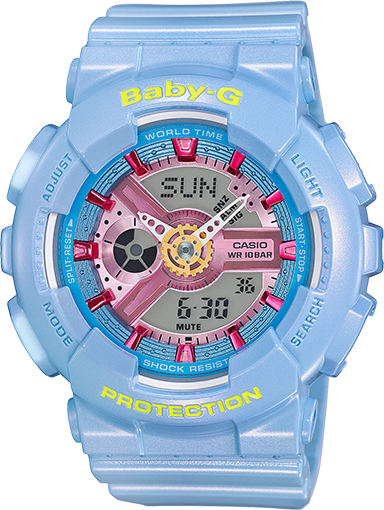 BA110CA-2A Baby gshock light blue