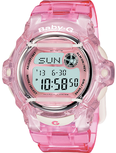 Casio G-Shock Pink / Clear Digital Watch BG169R-4