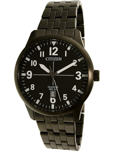 Citizen Men's BI1055-52E Black Stainless-Steel Plated Dress Watch