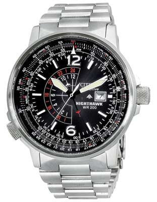 Citizen Night Hawk BJ7000-52E Black dial stainless