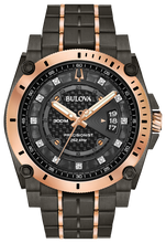 Bulova Precisionist Stainless Black and Rose Tone 98D149