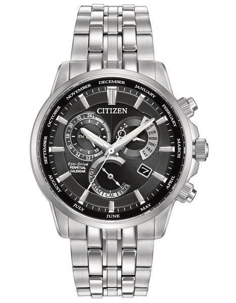 Citizen Eco-drive Calibre 8700 Perpetual Calendar Mens Watch Bl8140-55e