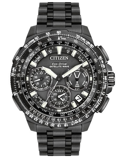 Citizen Men's Chronograph Eco-Drive Black Ion-Plated Titanium Bracelet Watch 47m