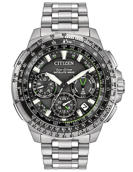 Citizen Eco-Drive Promaster Navihawk Mens World Time GPS Watch CC9030-51E