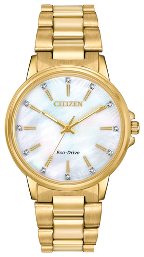 Citizen Women's Eco-Drive Stainless Gold tone FE7032-51D  Chandler