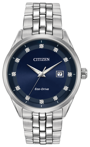 Citizen Stainless Steel Blue Diamond Dial Corso BM7251-53M