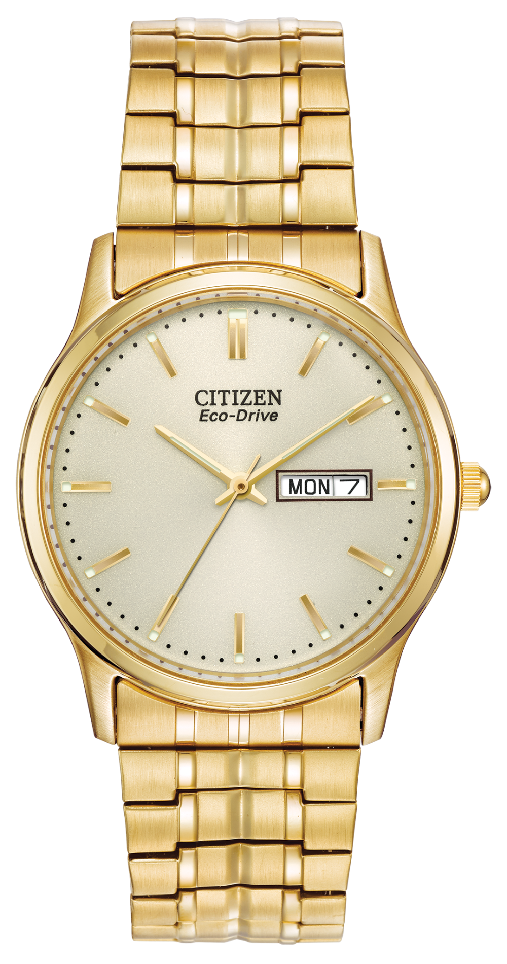 Citizen Stainless Steel Gold Tone Stretch Corso BM8452-99P