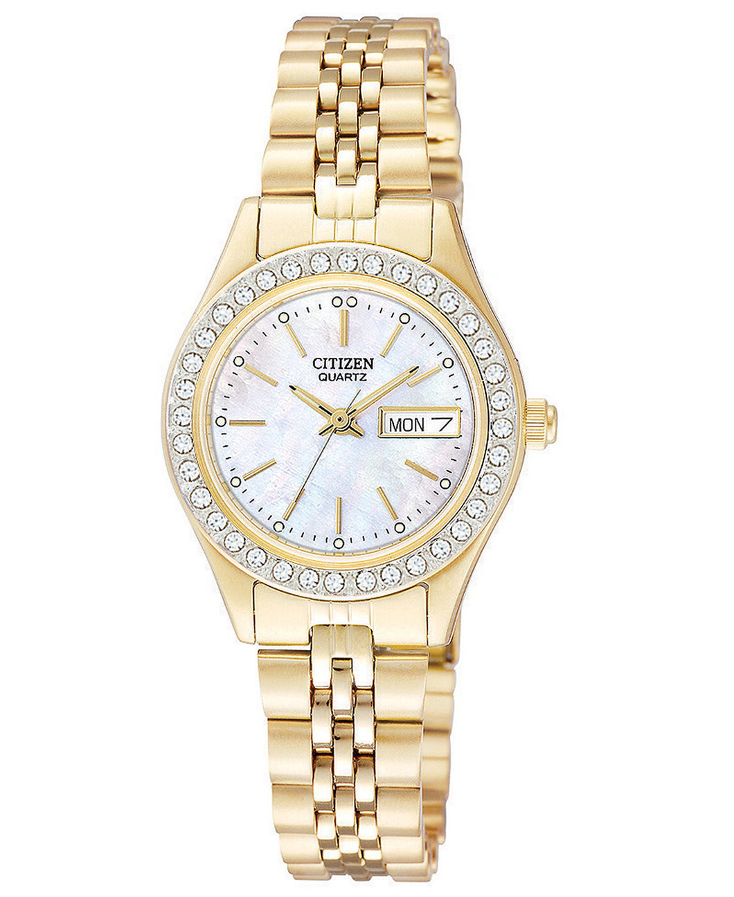 Citizen Quartz Gold tone EQ0532-55D crystal