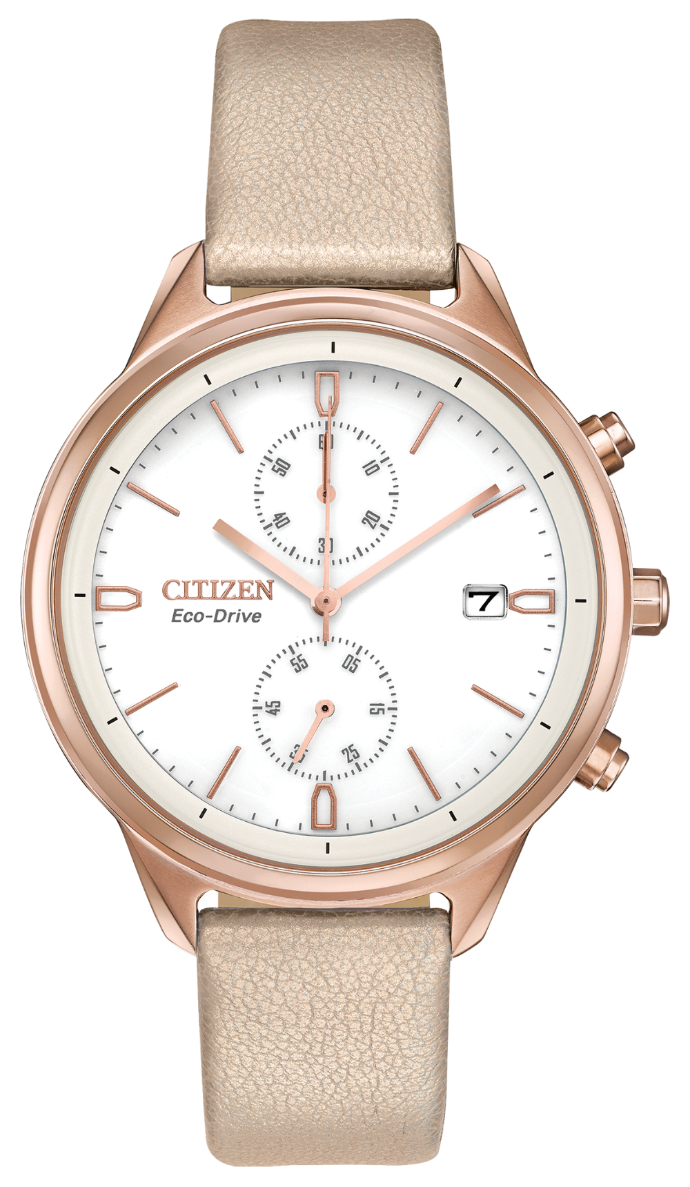 Citizen Women's Eco-Drive Leather Rose tone FB2003-05A    Chandler