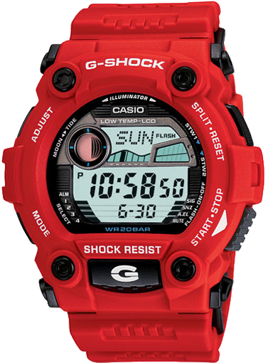 Mens Watch Casio G7900A-4 G-Shock Red Plastic Resin G-Shock
