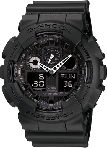Gshock Black out GA100-1A1