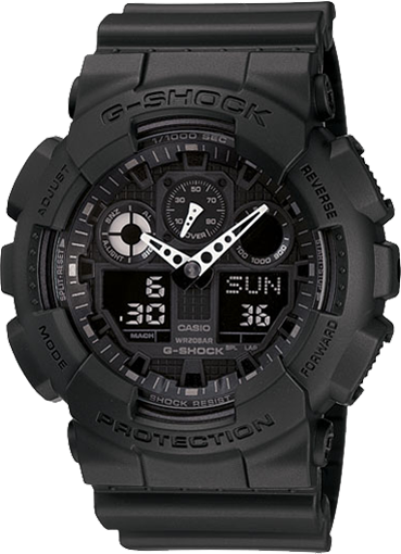 Casio GA1001A1 G-Shock X-Large G Ana-Digi Mens Watch (Black/Resin Strap)