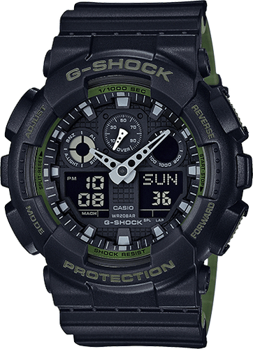 GA100L-1A Black and Green Gshock