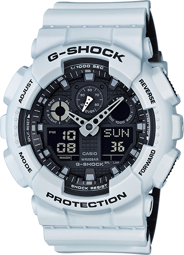 G-Shock GA-100 Military Series Watches - White/One GA100L-7A