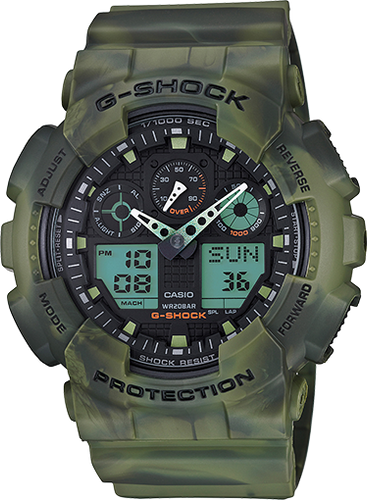 Gshock GA100MM-3A black and green