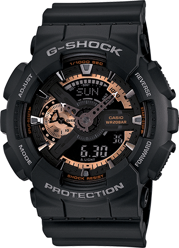 Casio Men's GA110RG-1A G-Shock Black Watch: Casio