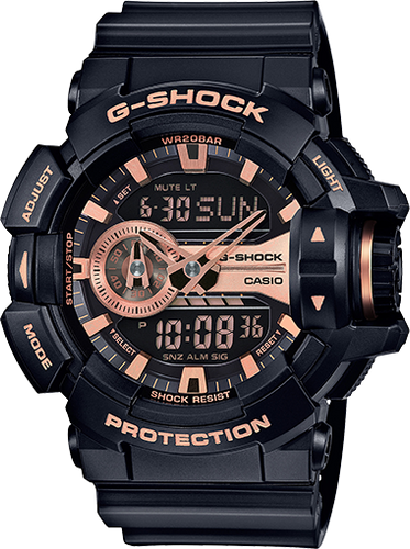 Casio G-Shock Black Digital Analog Watch GA400GB-1A4