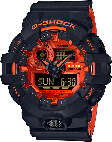 GA700BR-1A Gshock Black and Orange