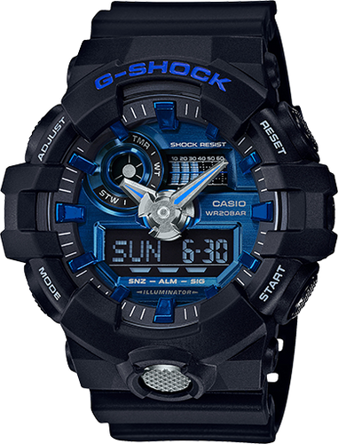 Gshock black and blue