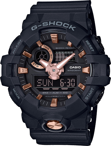 Gshock black and Rose Gold GA710B-1A4