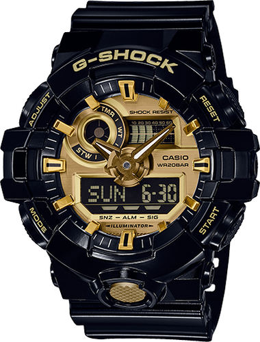 G-Shock Men's Analog-Digital Black Resin Strap Watch 54mm GA710GB-1A
