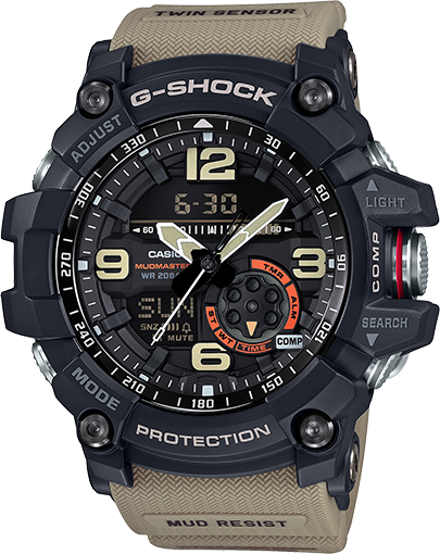 Casio G-SHOCK MASTER OF G MUDMASTER Watch (GG-1000-1A5) - Military Beige