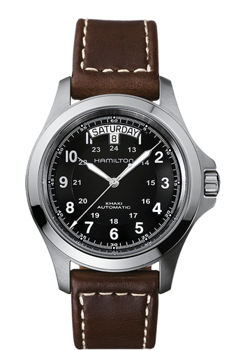 Hamilton Khaki King Auto H64455533 Brown leather