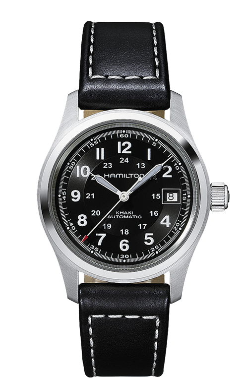 Hamilton Khaki Field Automatic Black Leather H70455733