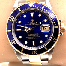 Rolex 16613 18k Stainless Steel Submariner 40mm Blue Dial